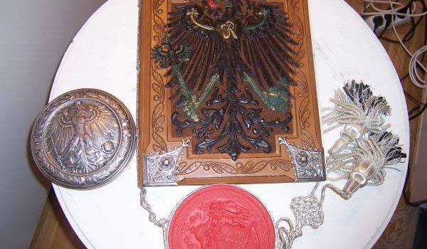 """Wappen, Urkunden und Dokumente """"Otto von Gierke"""""""